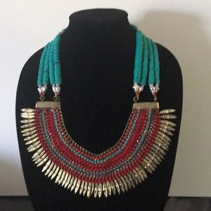 Amazing bead chain feather necklace chiker